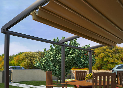 Mito Pergola Can Be Roof Or Wall Mounted